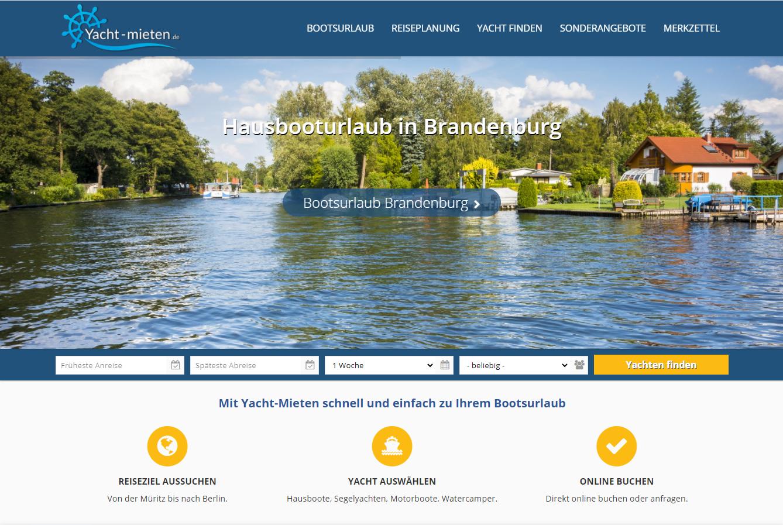 Yacht-Mieten Webseite